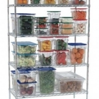 Shelf with clips for shelving unit 1200mm Global
