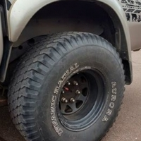 Aurora 33 inch tyres to stop for original colt rims and tyres