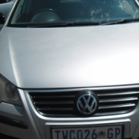 A Vw polo 2006 model, factory a/c, c/d player, central locking, silver in color, 90000km, power stee
