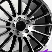 "18"" SSQ A45 Black & Silver 5/112 Alloy Wheels"
