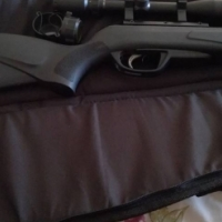 Pellet gun with scope and carry bag for sale