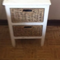 2 Drawer wicker bedside unit