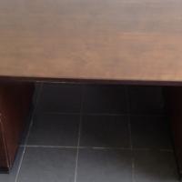 Dark wood desk