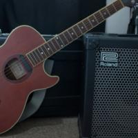 Roland Cube 60 amp & Ibanez SX60 RCB acoustic guitar