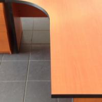 Cherry melamine desk