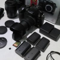 Panasonic Lumix GH3 Mirror less Twin Lens and 4x Batteries
