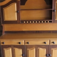solid imbuia / yellow wood cabinet