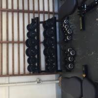 Rubber @ Cast Iron Dumbells FULL set