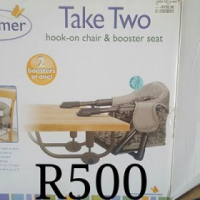 Hook on chair booster seat