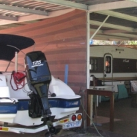 Sensaton 18 ft speed boat.