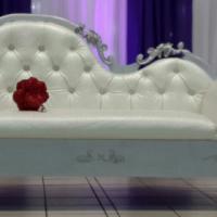 Beautiful fully custom hand made wedding chair