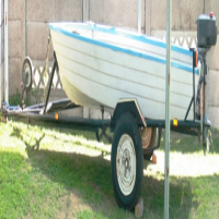 Bass Fishing Boat with 2 horse power motor