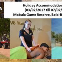 Holiday Accommodation For 12 (03/07/2017 till 07/07/02017) Mabula Game Reserve, Bela-Bela, Limpopo