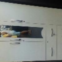 3 door wardrobe white chip board
