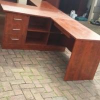 Executive Cherrywood Desk with Drawers