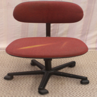 Maroon Swivel Office Chair - R150.00