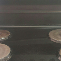 Defy 831 black stove with huge oven for sale