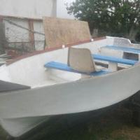 River Boat on trailer.