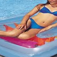 Inflatable 2 in1 pool lounge/bed