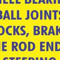 Specials !! Wheel Bearings. Ball Joints, Shocks, Brakes, Tie Rod ends, Steering Racks & Boxes