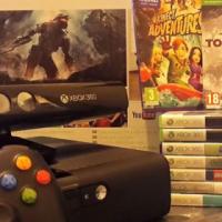 X-Box 360+ kinect Sensor+ 9 Games.