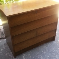 Teak Finish 4 Drawers Chest (840x450x730)