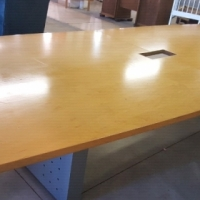 Beech finish boardroom table. 16 seater