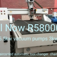 ps 2030 x9kw automatic 8tool changer cnc aircooled router with self clamb table