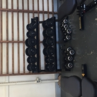 Cast Iron Dumbbell set