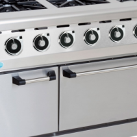 GAS STOVE WITH ELECTRIC OVEN ANVIL - 6 BURNER