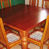 New Table Plus Riempie Chairs