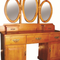 Large Dressing table, mirror, square - new