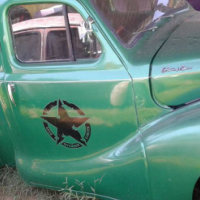 Old green pickup for sale