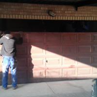 Garage door Meranti