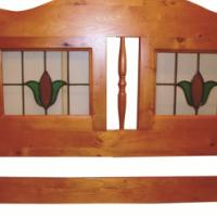 Lead glass headboard - New