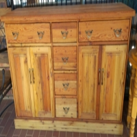 New - Old oregon sideboard, drawers in the middle, doors