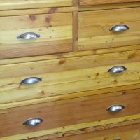 New 8 drawer chest, brass handle