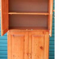New Book shelf with wooden doors