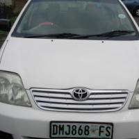 Toyota Corolla 1.4 Model 2008 5 Door Colour White Factory A/C & CD Stero Player P