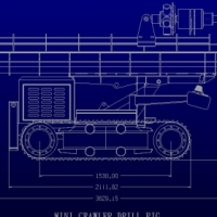 MINI CRAWLER DRILL RIG SUITABLE FOR WATER BOREHOLES