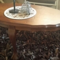 Antique ball and claw coffee table