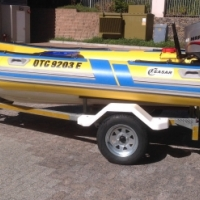3.8 M Caesar Craft Semi Ridgid Boat
