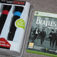 Xbox 360 The Beatles rockband singing game with 2 mics