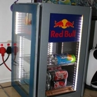 220 volt Red Bull classic bar cooldrink fridge for sale.