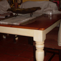 8 seater diningroom table from solid oregan pine wood