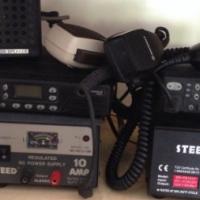 Motorola CB radios GM350 and GM950, with transformers. VHF (mid band)