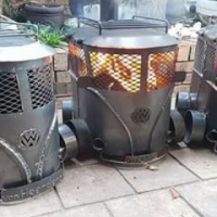 Fire Place Braai Coal Stove with Oven