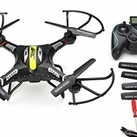 Radio controlled quadcopter drone with camera
