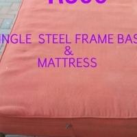 Steel firm & sturdy base & single mattress
