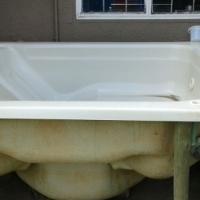 Jacuzzi with wooden frame